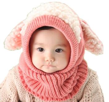 Bunny Ears Woolen Hat Scarf