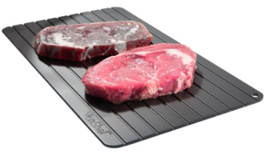 Defrosting Tray Thaws Frozen Food In Minutes!