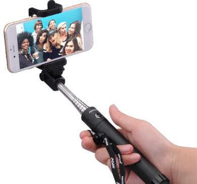 Selfie Stick with Bluetooth Remote Shutter Button