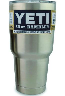 Yeti Rambler Tumbler - Keeps Hot Drinks Hot & Cold Drinks Cold