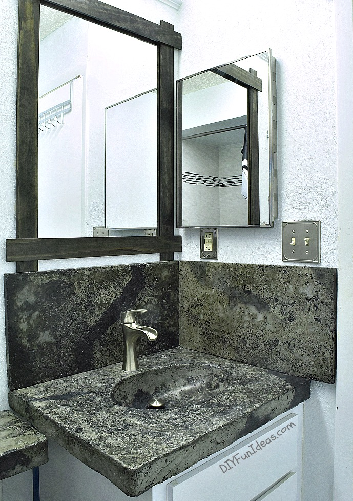 HOW TO MAKE A CONCRETE COUNTERTOP OR VANITY WITH INTEGRAL SINK Do - How to make a bathroom vanity