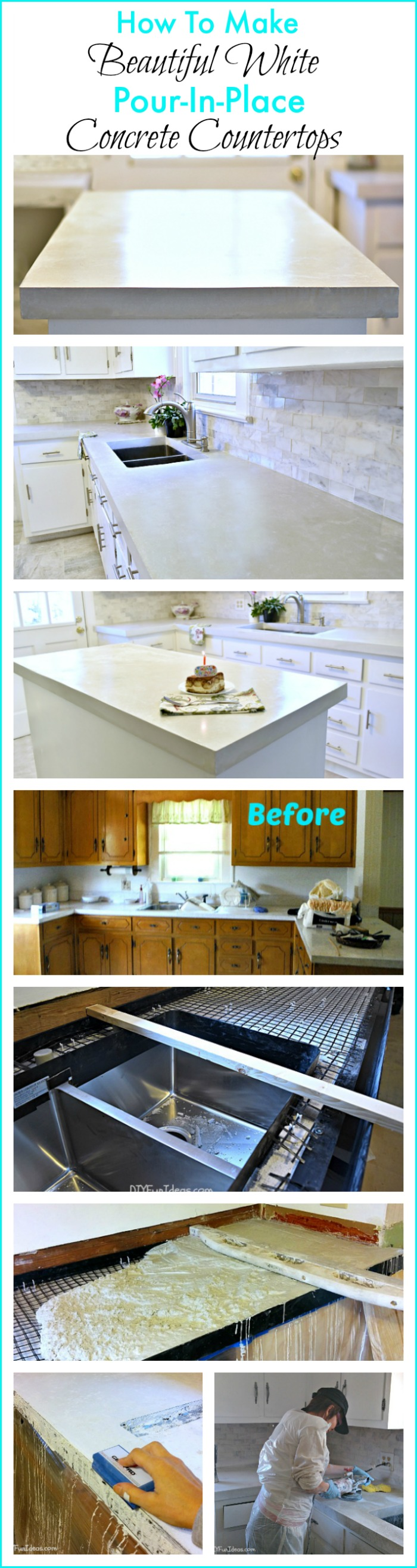HOW TO MAKE DIY CAST IN PLACE WHITE CONCRETE COUNTERTOPS - Do-It ...