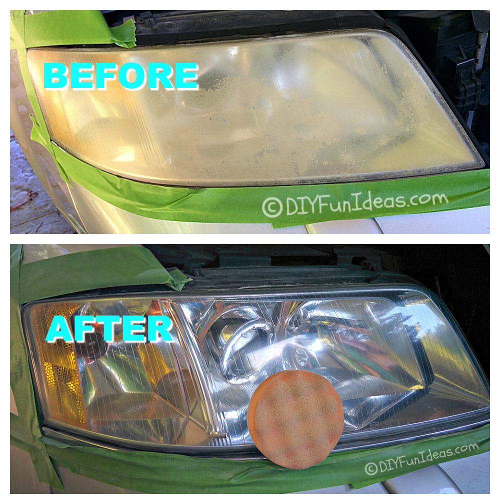 FROM CLOUDY HEADLIGHTS TO SPARKLY NEW FOR UNDER $15!!!