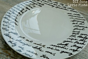 Hand painted lyric plate