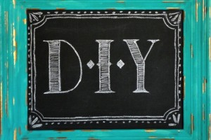 diy chalk board and frame refurb