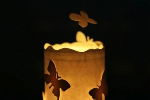 how to make a diy floating butterfly tealight jar
