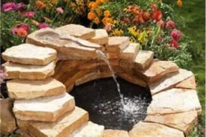 DIY BACKYARD fountain POND