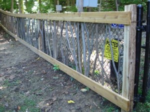 update a chain link fence