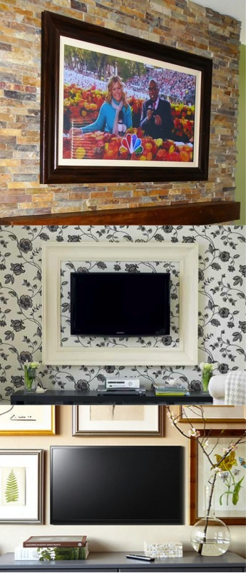 Link Diy Tv Frame Disguise That Flat Screen Decorating Your Small E