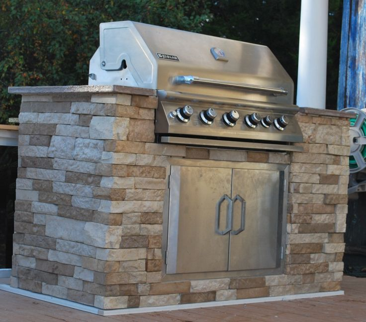 Stone Fireplace Next To The Outdoor Kitchen And A Lovely: How-To Update With Beautiful Faux Stone Finish