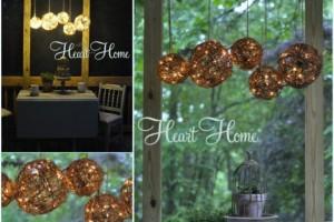 outdoor grapevine chandelier