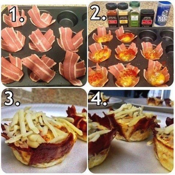 Bacon and egg breakfast cup