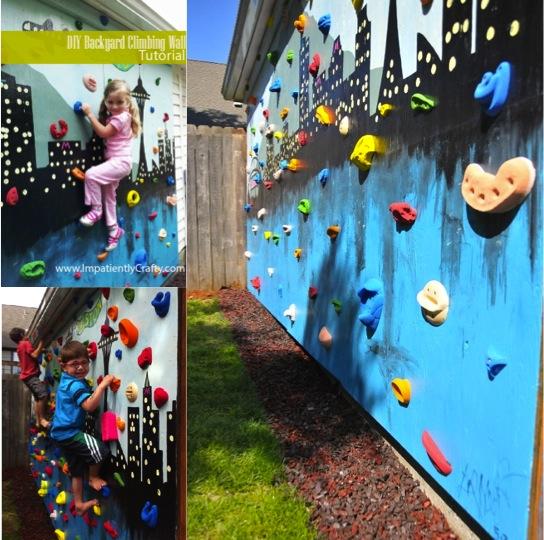 Link Http Www Impatientlycrafty 2017 05 07 Diy Backyard Climbing Wall