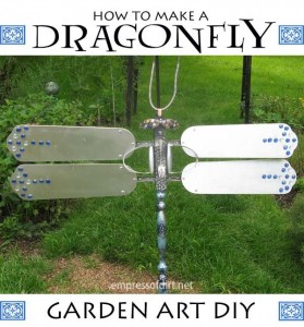 diy garden art dragon fly