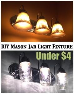 country chic mason jar light fixture