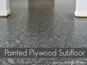 painted stenciled floor