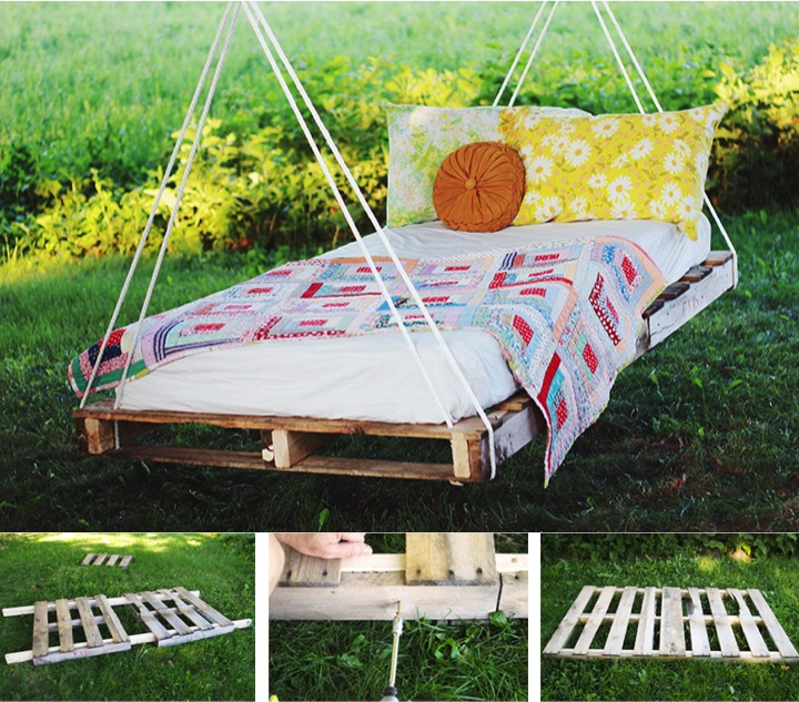 Diy Pallet Swing Bed Do It Yourself Fun Ideas