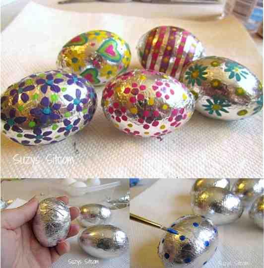 DIY Foil Easter Eggs