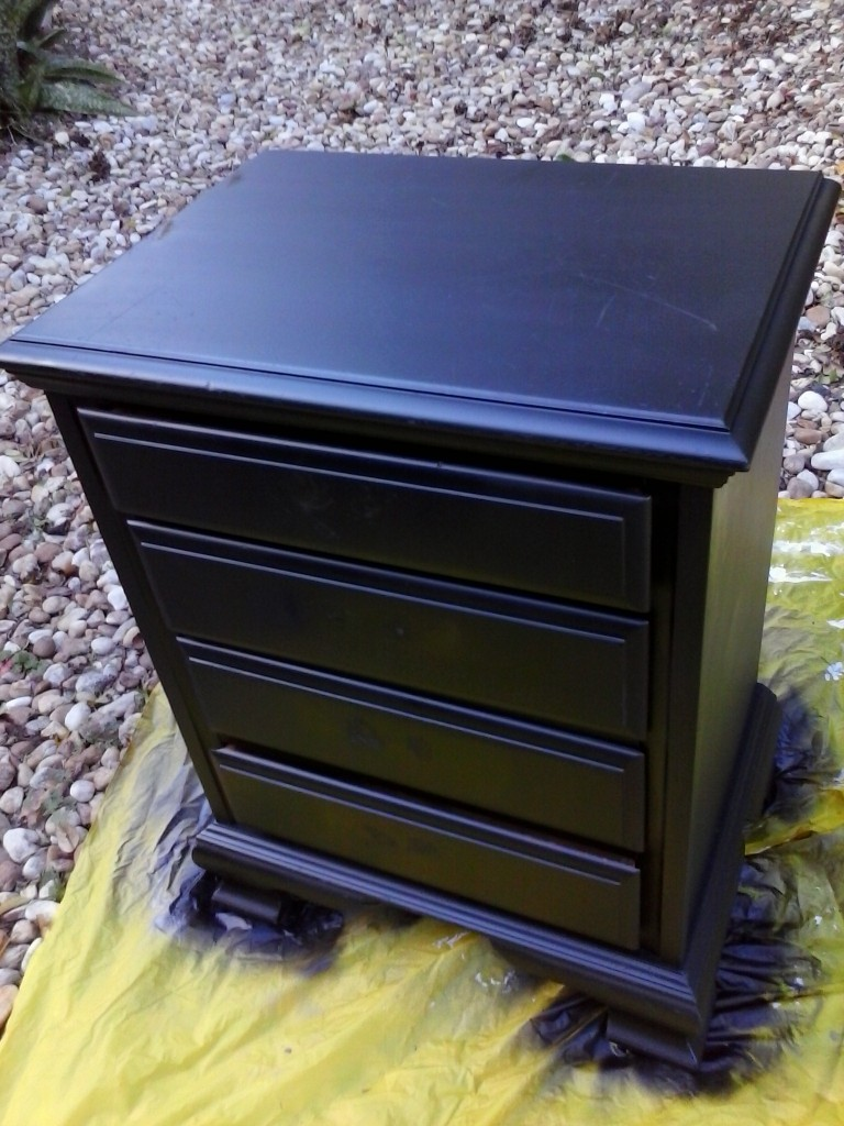 diy shabby chic furniture refurb krylon looking glass paint