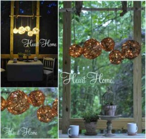 outdoor grapevine ball chandelier