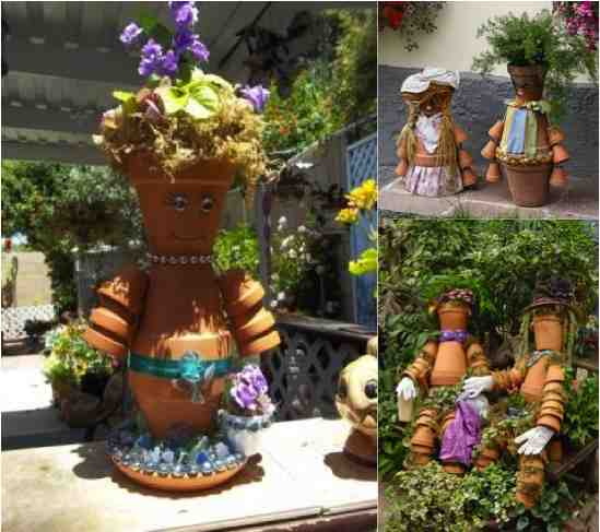 diy clay pot people