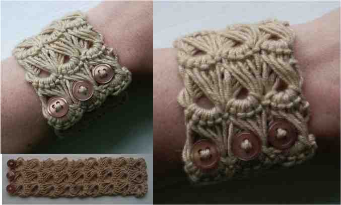 how to make a broomstick lace bracelet