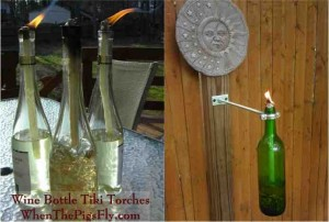 diy citronella wine bottle tiki torch