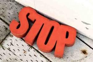 diy concrete door stop