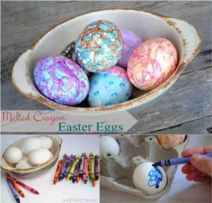 diy crayon easter eggs 2