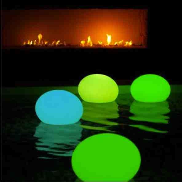 balloon glow-stick pool lantern