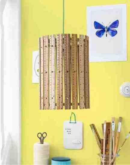 diy hanging ruler lamp