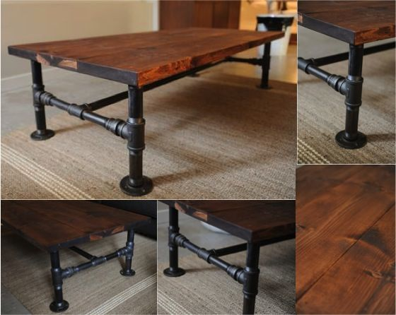 Diy industrial pipe coffee table do it yourself fun ideas Do it yourself coffee table