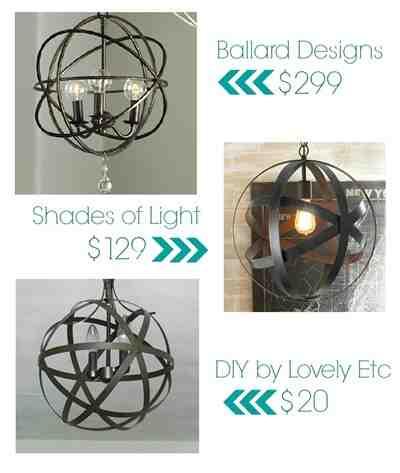 diy orb light fixtures