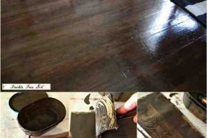 diy paper bag faux wood floors