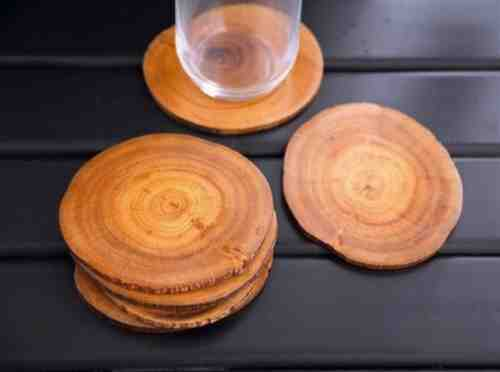 diy woodslice coasters