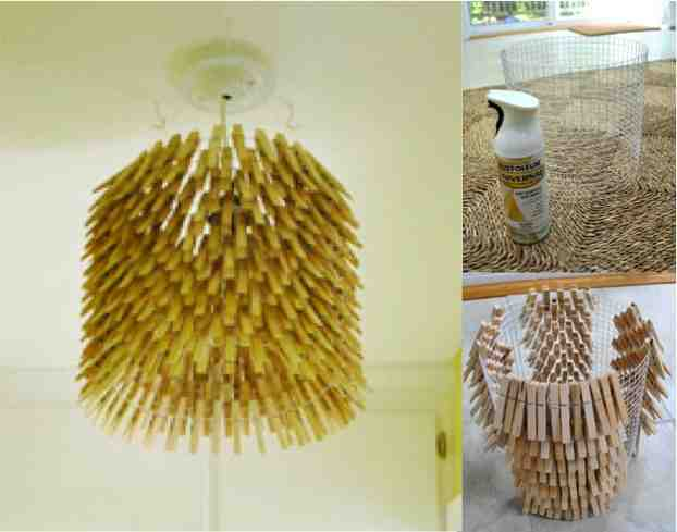 how to make a clothespin chandelier 2