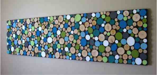 Painted Diy Wood Slice Art