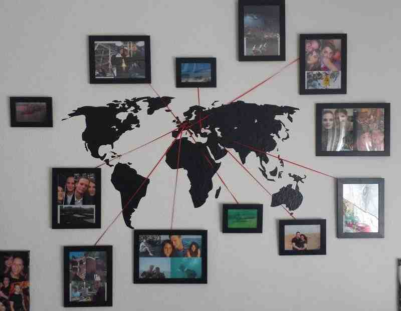 world map family photos