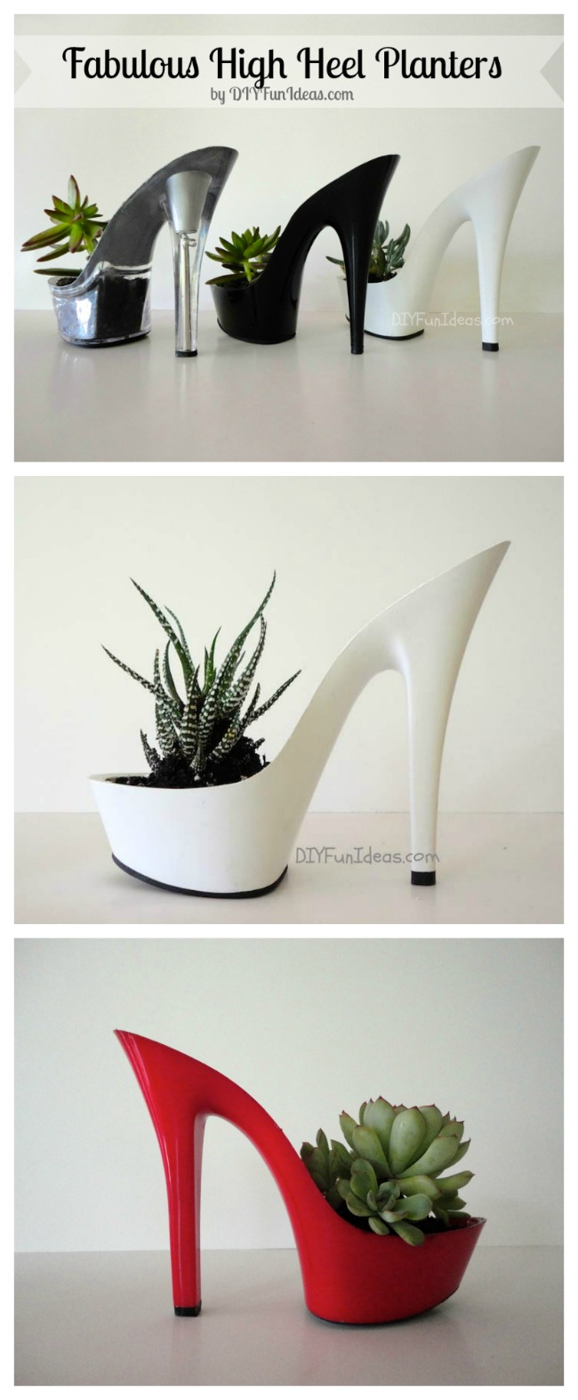 DIY High Heel Planters for succulents
