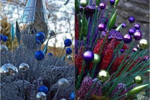 diy christmas ornament garden art