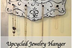 upcycled diy jewelry hanger