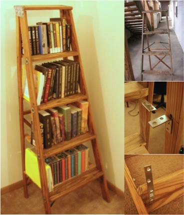 Charming diy ladder bookshelf do it yourself fun ideas for Homemade bookcase ideas