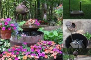 diy tea pot water fountain