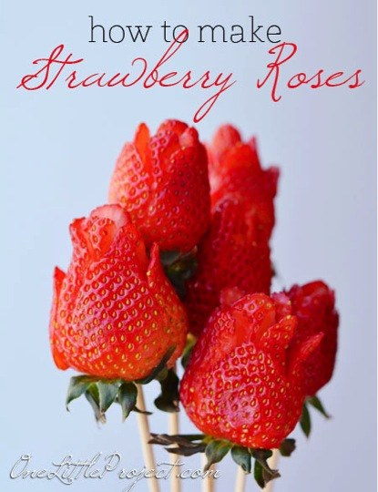 how to make strawberry roses 2