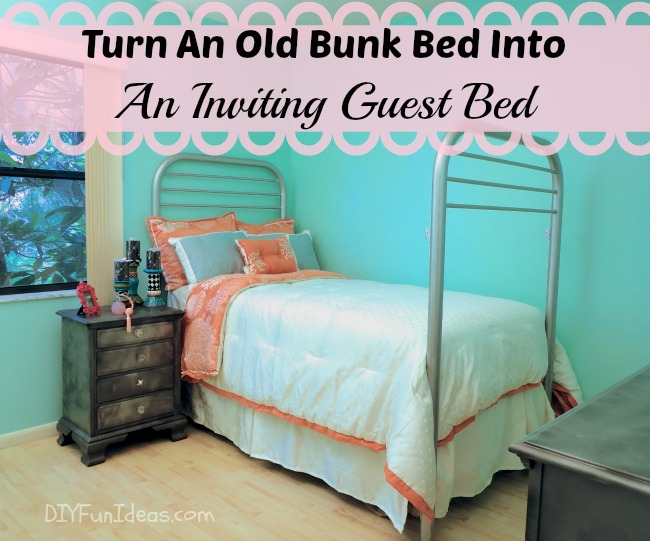 Turn An Old Bunk Bed Into An Inviting Guest Bed Do It