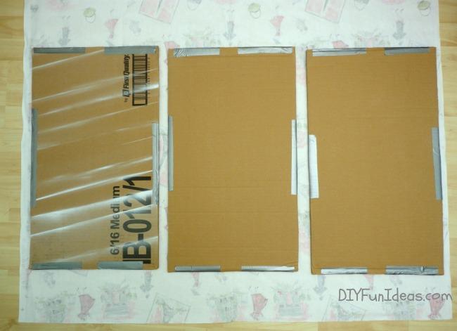 easy diy fabric wall art