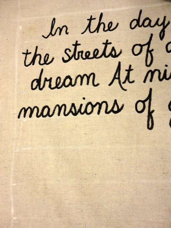 DIY Lyric wall art