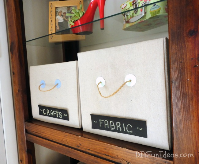 How To Make DIY Fabric covered storage boxes
