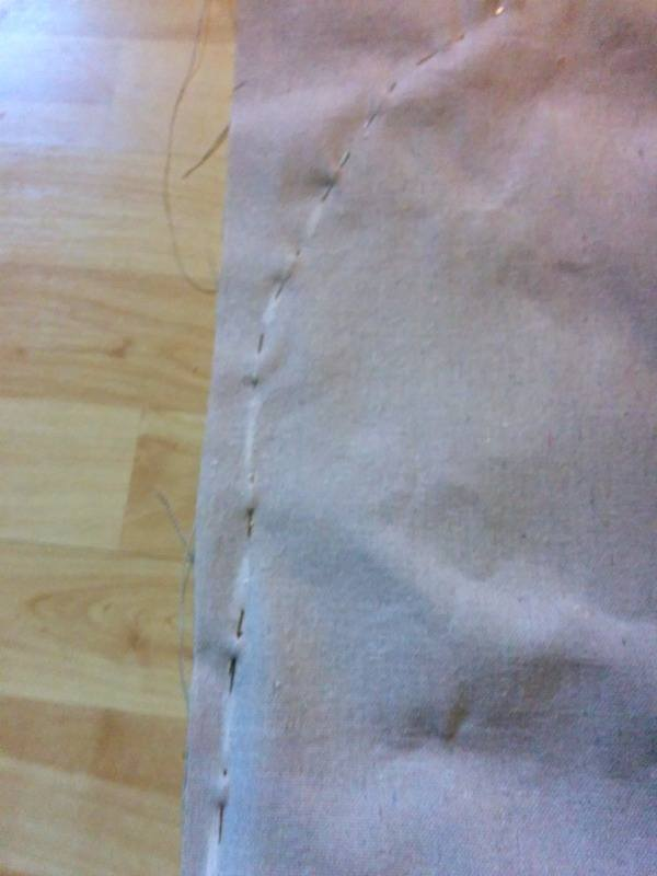 DIY No-sew headboard slip cover