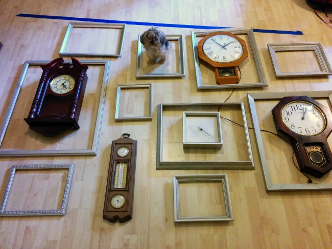 DIY Clock and Frame Gallery